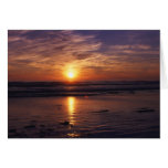 Ocean Sunset  Birthday Card at Zazzle