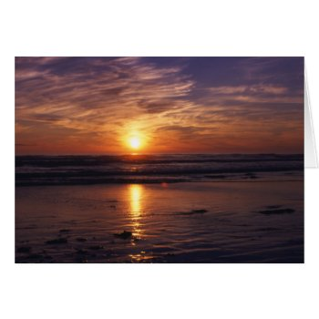 Ocean Sunset  Birthday Card by Artnmore at Zazzle