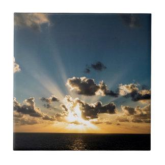 Ocean Sunset Ceramic Tile