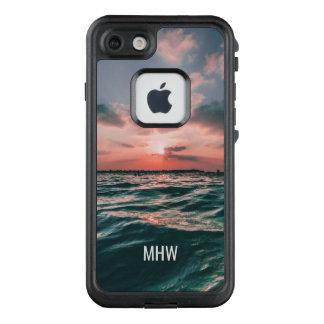 Ocean Sunset custom monogram waterproof cases