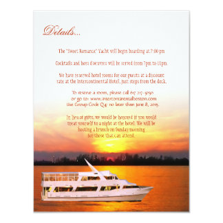 Ocean Sunset Details Card Custom Announcement