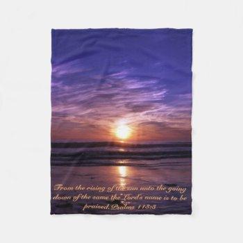 Ocean Sunset Fleece Blanket by Artnmore at Zazzle