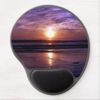 Ocean sunset gel mouse pad