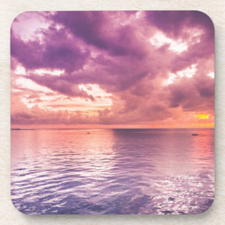 Ocean Sunset Inspirational Drink Coaster