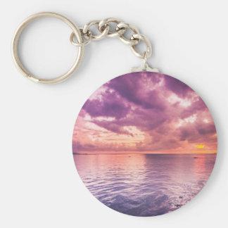 Ocean Sunset Inspirational Keychain