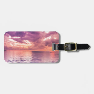 Ocean Sunset Inspirational Luggage Tag
