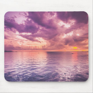 Ocean Sunset Inspirational Mouse Pad