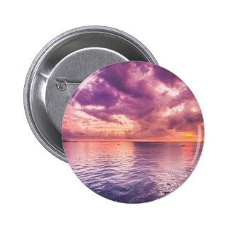 Ocean Sunset Inspirational Pinback Button
