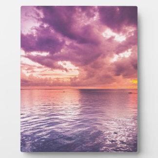 Ocean Sunset Inspirational Plaque