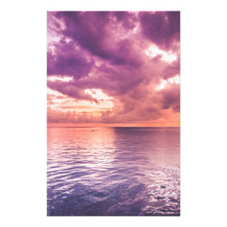 Ocean Sunset Inspirational Stationery