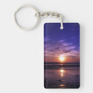 Ocean sunset keychain