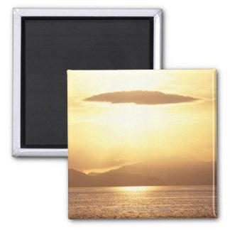 Ocean sunset fridge magnet
