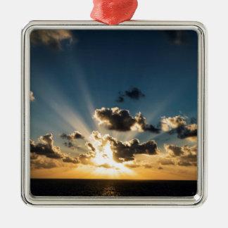 Ocean Sunset Metal Ornament