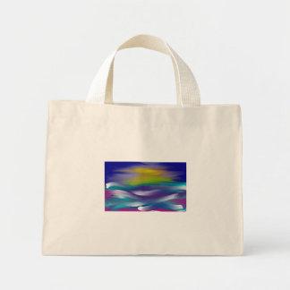 ocean sunset mini tote bag