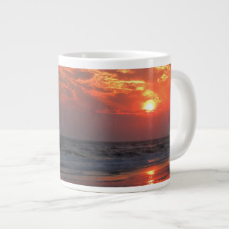 Ocean Sunset - Oak Island, NC Large Coffee Mug