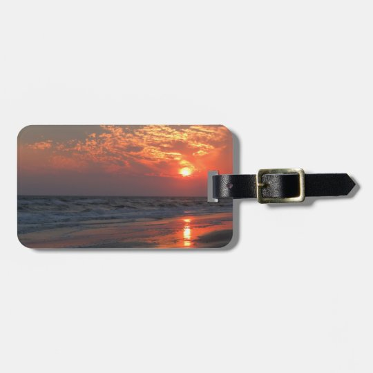 Ocean Sunset - Oak Island, NC Luggage Tag