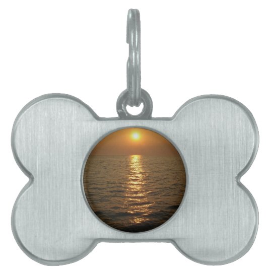 Ocean Sunset Pet ID Tag