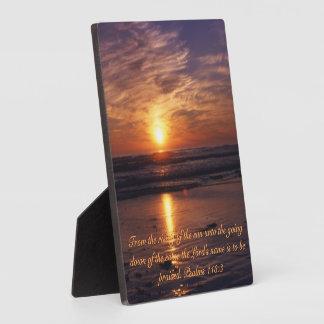 Ocean sunset plaque