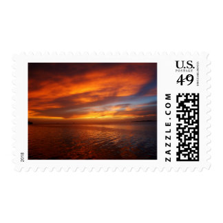 Ocean sunset postage