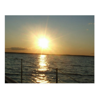 ocean sunset postcard