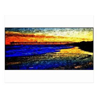Ocean SunSet Post Card
