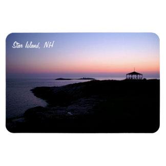 Ocean Sunset Rectangular Photo Magnet