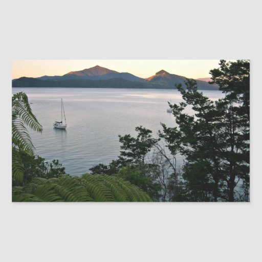 Ocean Sunset Rectangular Sticker