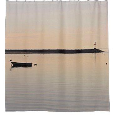 Beach Themed Ocean sunset shower curtain