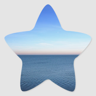 Ocean sunset. star sticker