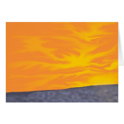 Ocean Sunset Stationery Note Card