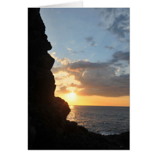 Ocean Sunset Sympathy Card-Greeting Inside Card