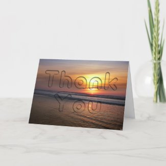 Ocean Sunset Thank You card