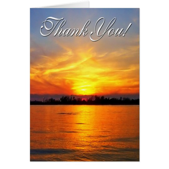 Ocean Sunset Thank You Card