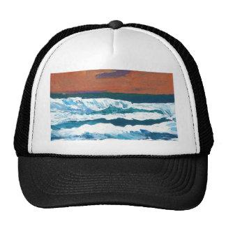 Ocean Sunset Waves Trucker Hat