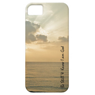 Ocean Sunset with Be Still Bible Verse iPhone SE/5/5s Case