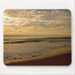OCEAN SUNSET WITH SEABIRDS MOUSE PAD