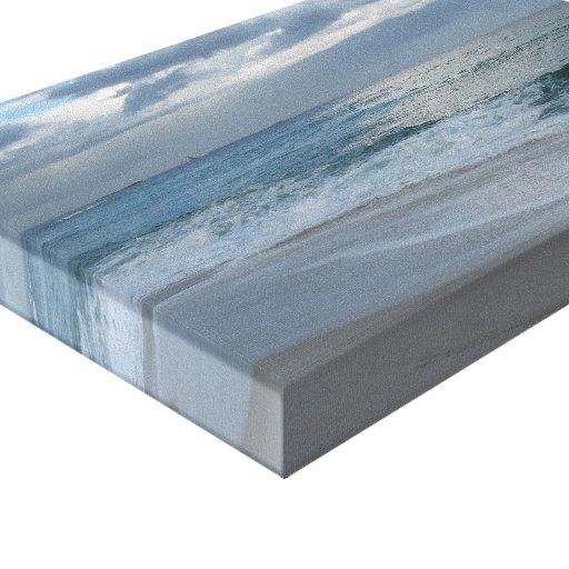 Ocean surf and sky canvas print