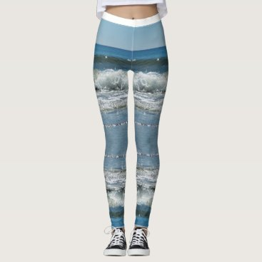 Beach Themed Ocean Surf Mandala Leggings