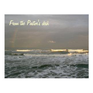 Ocean Surf Pastor's Desk Template Postcard
