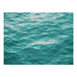 Ocean Surface photo painting Poster