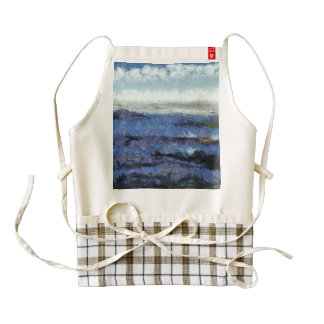 Ocean swells zazzle HEART apron