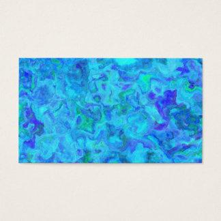 OCEAN SWIRLS BLUE GREENS WHITE RANDOM ABSTRACT DIG BUSINESS CARD