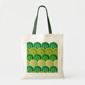 Ocean Swirls Green Bag