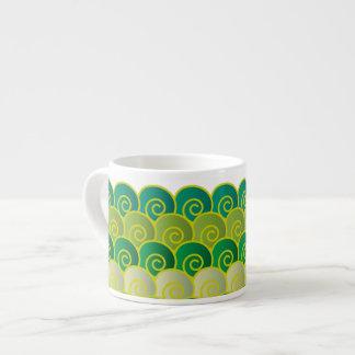 Ocean Swirls Green Expresso Mug