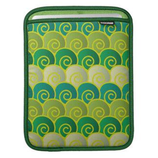 Ocean Swirls Green iPad Sleeve