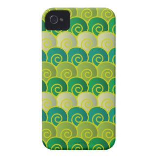 Ocean Swirls Green iPhone 4 Case