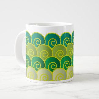 Ocean Swirls Green Jumbo Mug