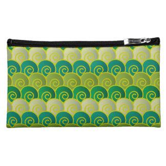 Ocean Swirls Green Wristlet
