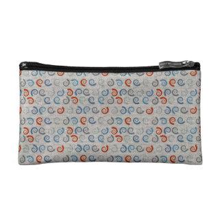 Ocean Swirls Linen Look Cosmetic Bags