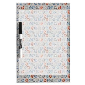 Ocean Swirls Linen Look Dry Erase Board